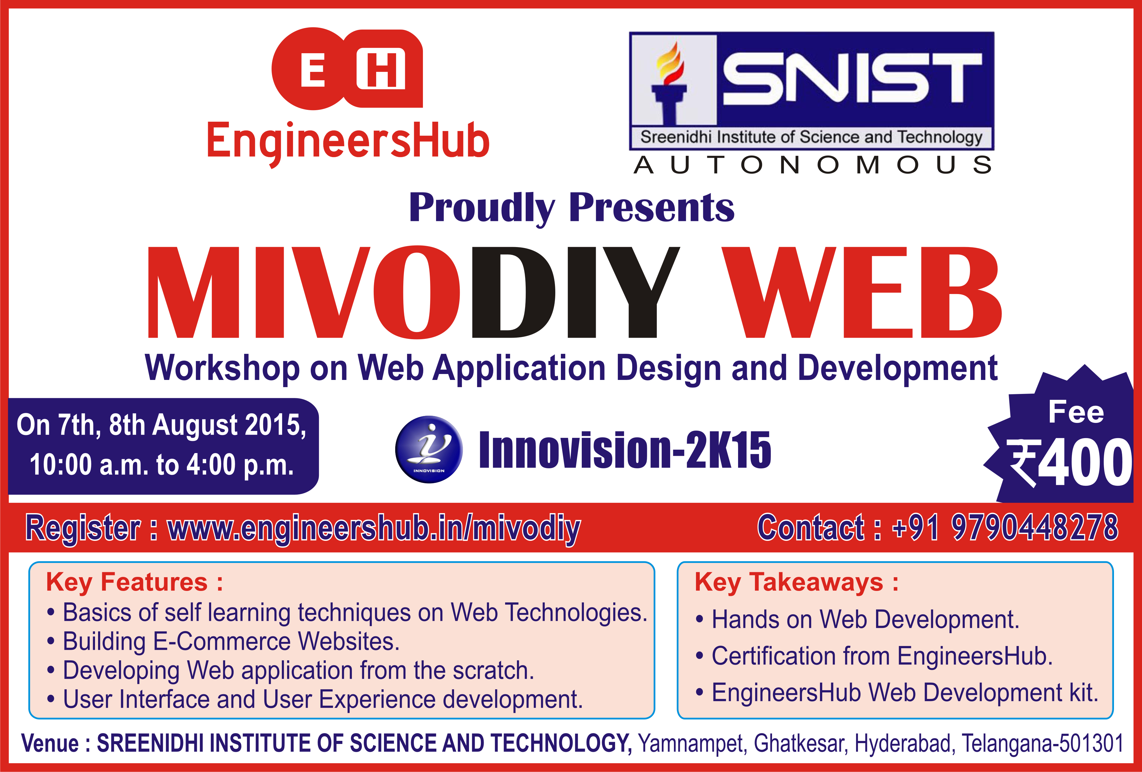EngineersHub MivoDiy Workshop